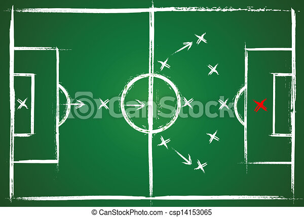 Football Positions Teamwork Strategy Illustration Game Vector