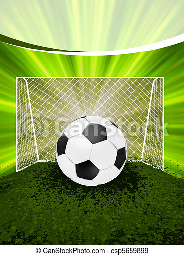 Football poster with soccer ball. EPS 8 - csp5659899