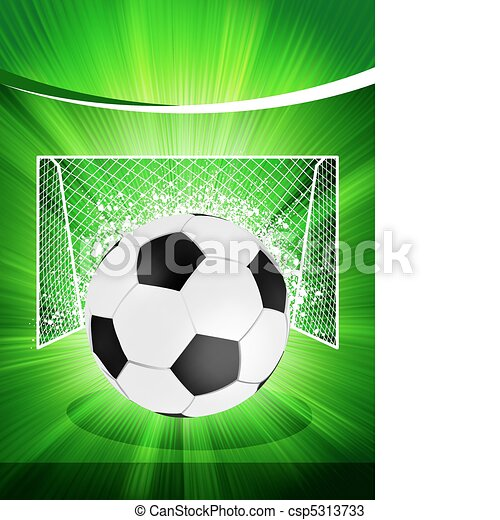 Football poster with soccer ball. EPS 8 - csp5313733