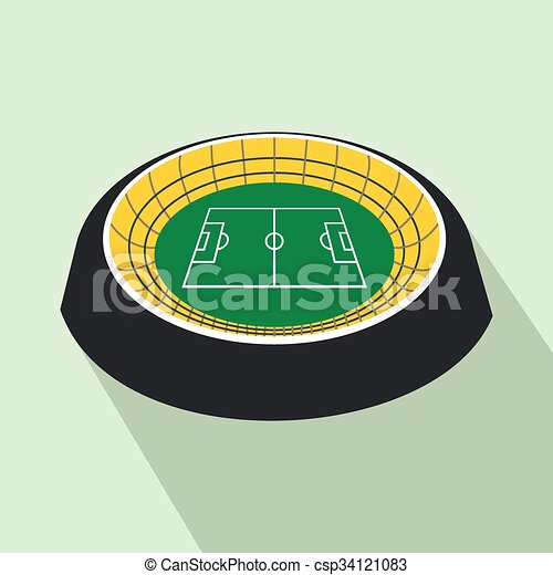 Football round stadium flat icon - csp34121083