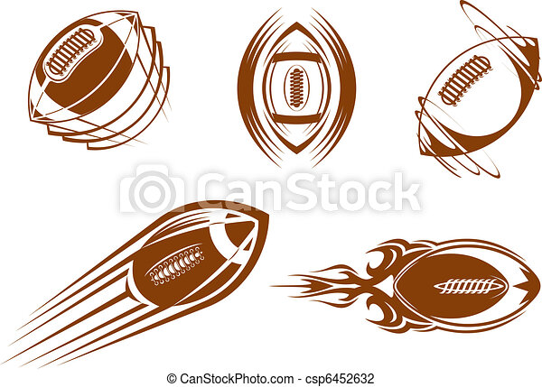 football, rugby, mascottes - csp6452632