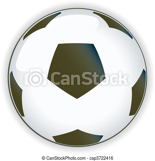 Football soccer background button - csp3722416