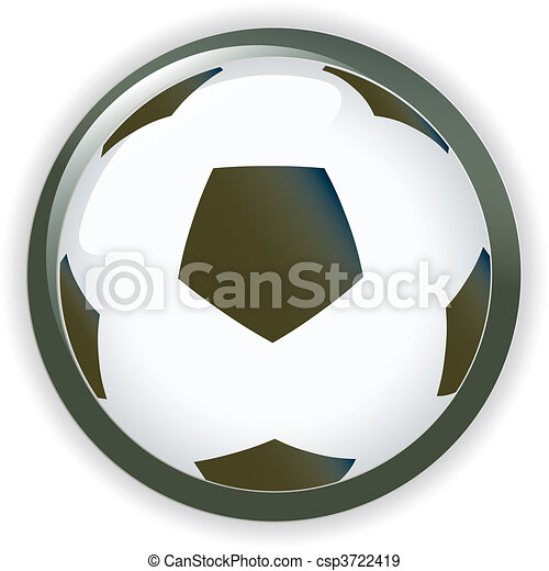 Football soccer background button - csp3722419