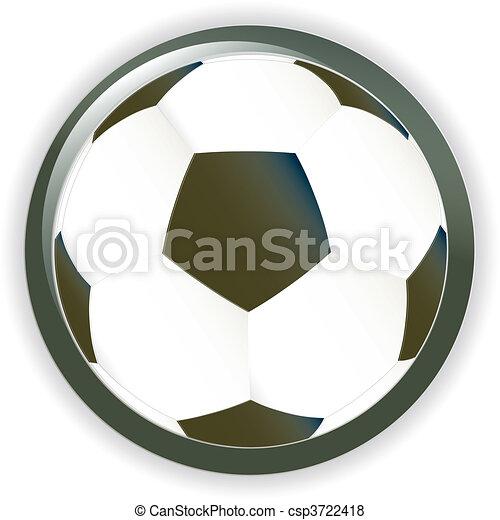 Football soccer background button - csp3722418