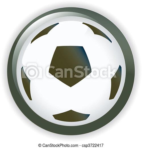 Football soccer background button - csp3722417