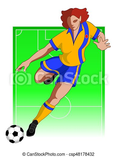 football / soccer player female - csp48178432
