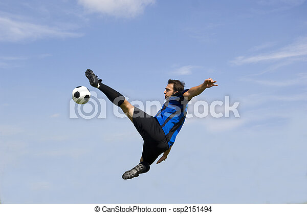 Football - Soccer Player Volley - csp2151494