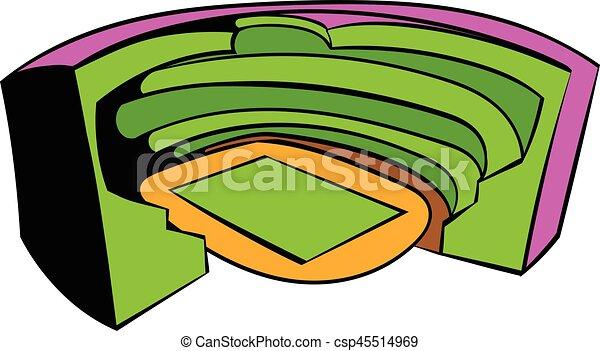 football soccer stadium icon icon cartoon football soccer clip rh canstockphoto com  football ground clipart