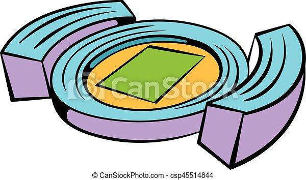 football soccer stadium icon icon cartoon football soccer eps rh canstockphoto com