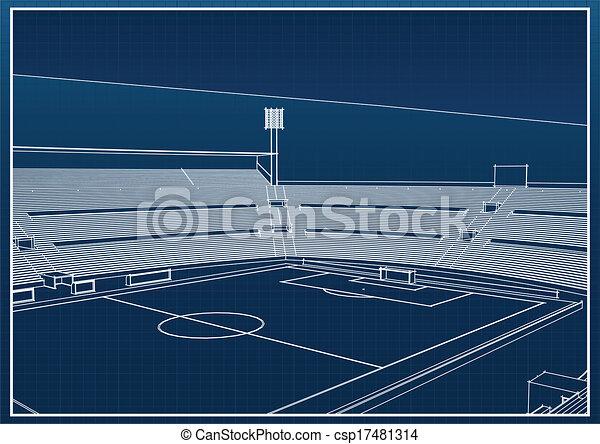 Football - soccer stadium - csp17481314