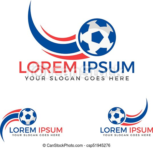 football sport logo tournament or club vector logo design template