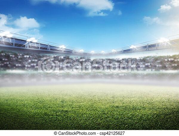 football stadium background image of empty football stadium background you can put your design https www canstockphoto com football stadium background 42125627 html