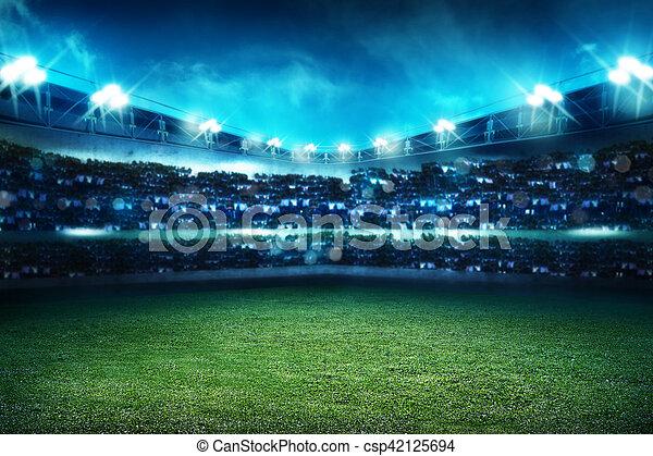 football stadium background image of empty football stadium