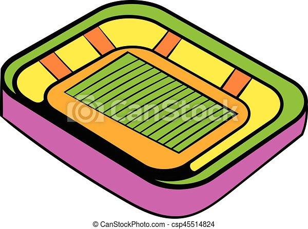 football stadium icon icon cartoon football stadium icon vector rh canstockphoto com  football stadium clipart
