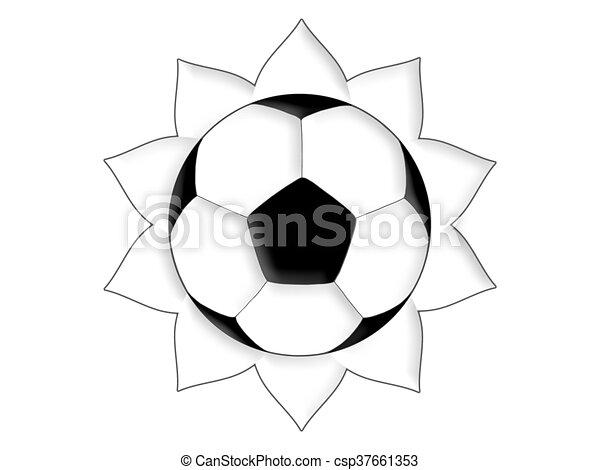Line Art Of Sun : Football sun. soccer ball in the form of