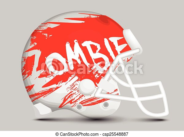 Football team helmet - csp25548887