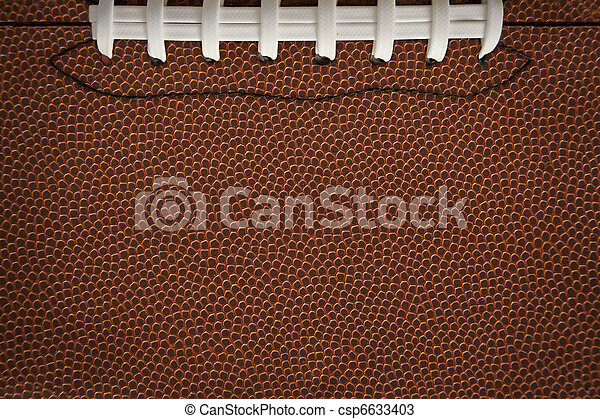 Football Texture with Seams - csp6633403