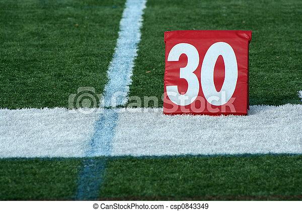 Football thirty yard marker - csp0843349