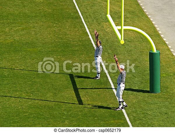 football touchdown referee - csp0652179