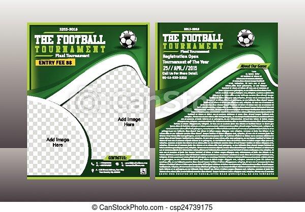 Football  Tournament Flyer Template - csp24739175