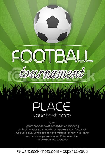 Soccer Ball Drawing Football tournament po...