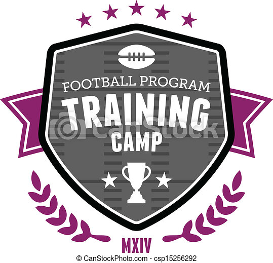 Football training camp emblem - csp15256292