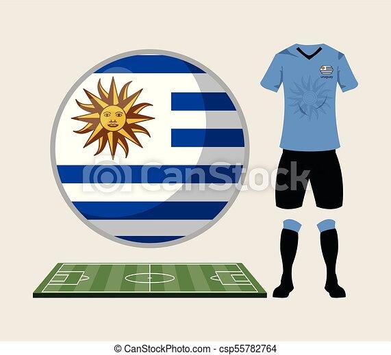 b9f020bb7f3 Football uruguay sport wear vector illustration graphic design.