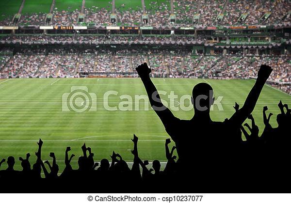 football, ventilateur, célébration - csp10237077