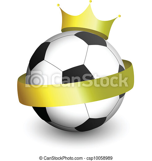 Football With a Crown - csp10058989