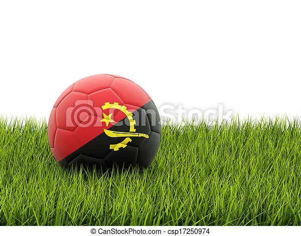 Football with flag of angola - csp17250974