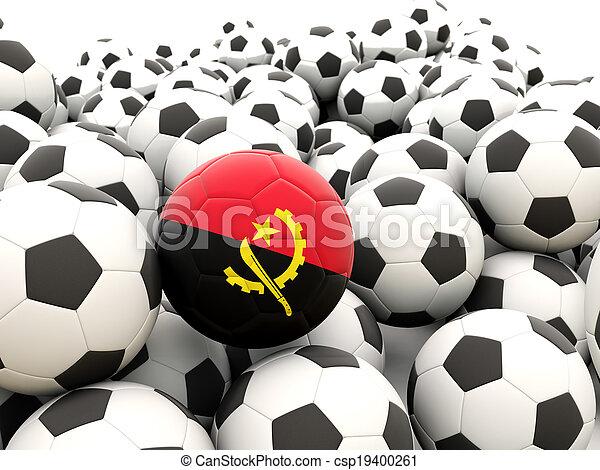 Football with flag of angola - csp19400261