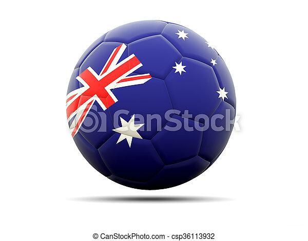 Football with flag of australia - csp36113932