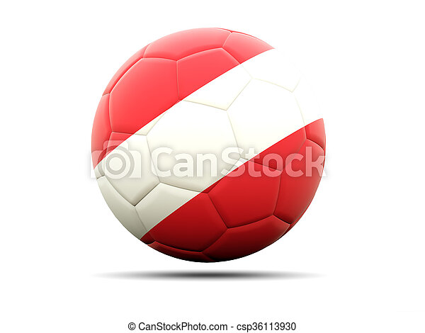 Football with flag of austria - csp36113930