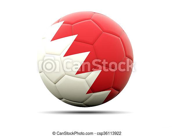 Football with flag of bahrain - csp36113922
