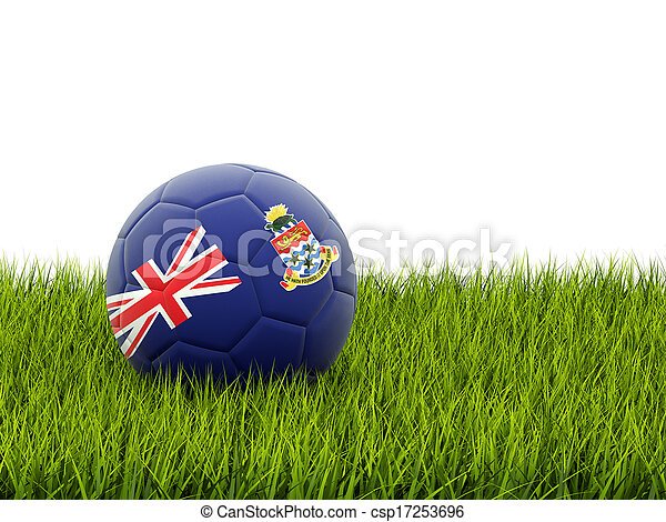 Football with flag of cayman islands - csp17253696