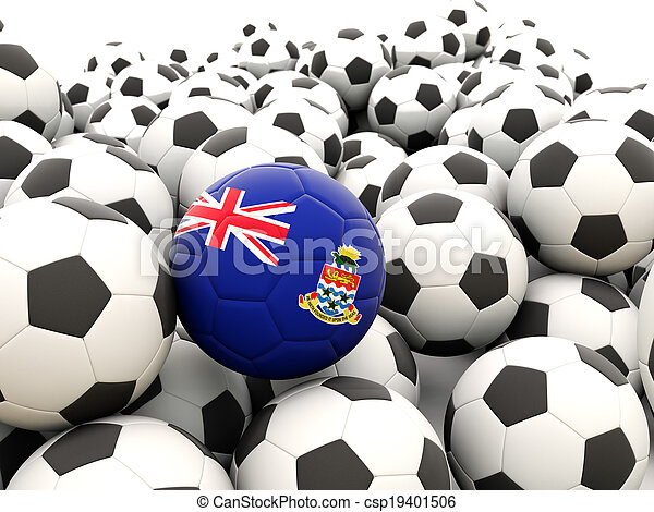 Football with flag of cayman islands - csp19401506