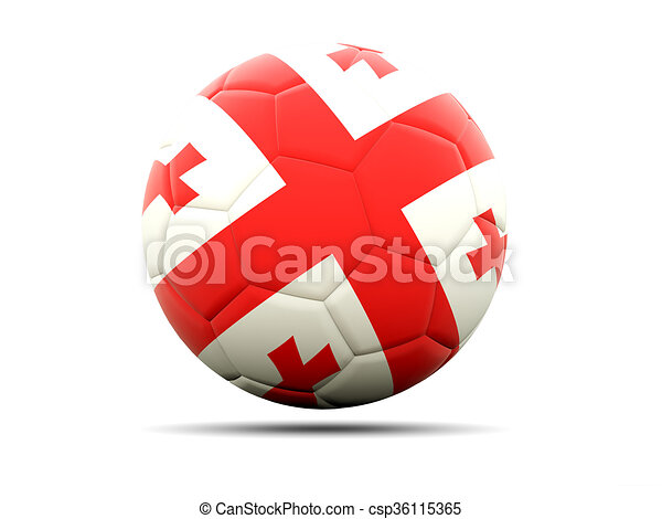 Football with flag of georgia - csp36115365