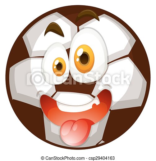 Football with happy face - csp29404163