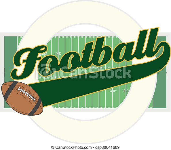 Football With Tail Banner - csp30041689