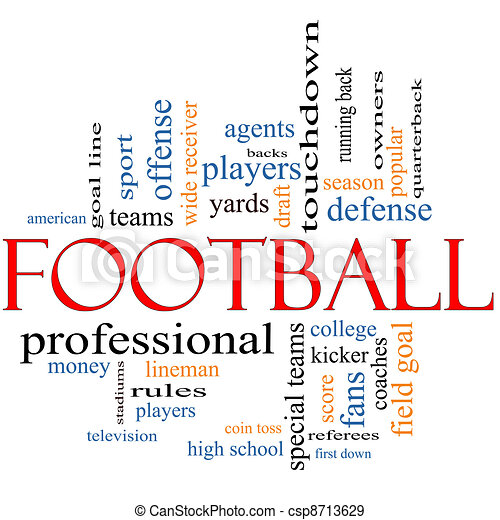 Football Word Cloud Concept - csp8713629