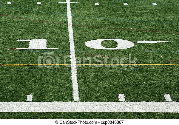 Football  yard marker - csp0846867