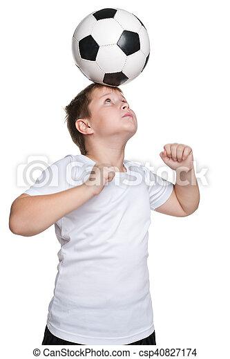 footballeur, jeune - csp40827174