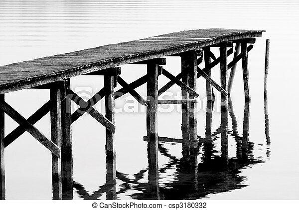 Footbridge on the lake - csp3180332