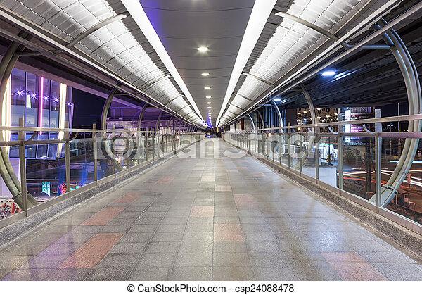 footbridge over highway - csp24088478