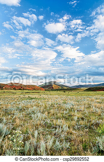 foothills of Rocky Mountains in Colorado - csp29892552