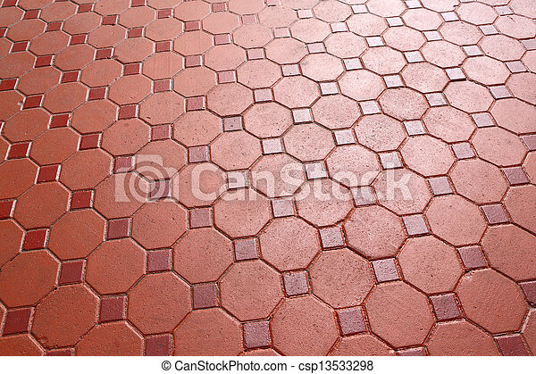 Footpath concrete block - csp13533298