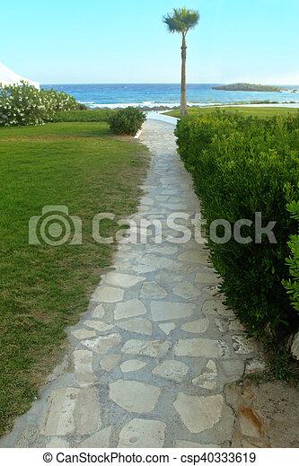 footpath on the beach - csp40333619