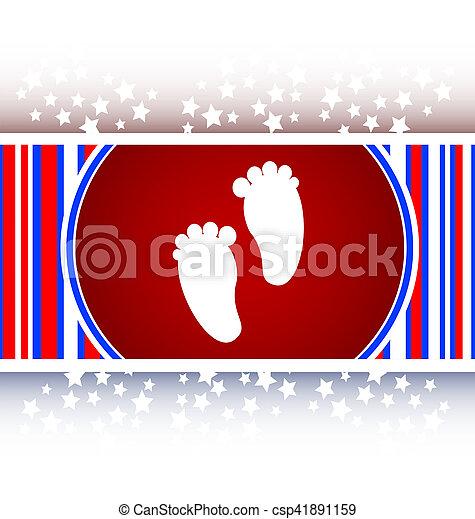 footprint circle glossy web icon - csp41891159