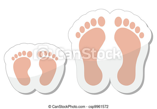 Footprint icon - baby, child and ad - csp9961572