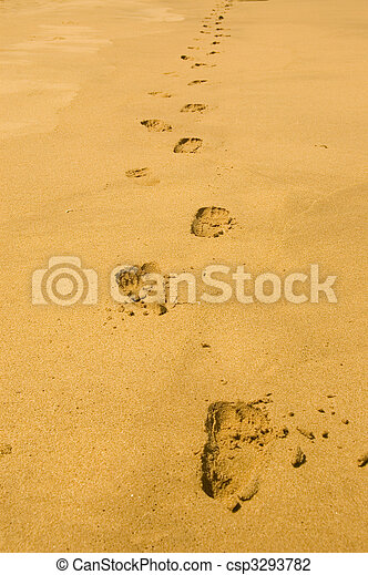 Footprint in the sand stock photo - Search Pictures and Photo Clip ...